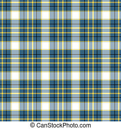 Seamless Blue Plaid - Seamless plaid in blue, black, and...