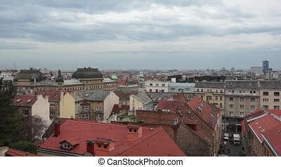 Panorama - Zagreb 002 - Panoramic view of Zagreb city,...