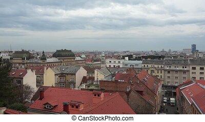 Panorama - Zagreb 002 - Panoramic view of Zagreb city,...