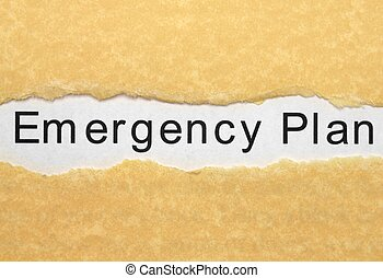 Emergency plan - Emergency