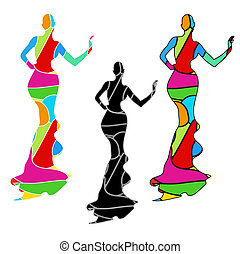 Silhouette female mannequin and black iron hanger