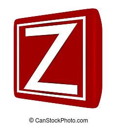 3d Render Font Set 1 Letter Z