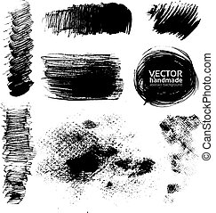 Hand-drawing textures of brush strokes