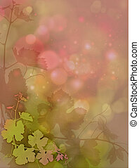 Vines and Lights - a decorative greeting card im Romantic...