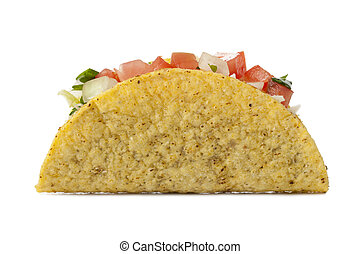 delicious mexican taco - Closed up shot of delicious Mexican...