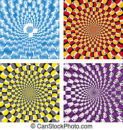 Vector Optical illusion Spin Cycle