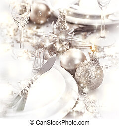 Christmastime table setting - Picture of Christmastime table...