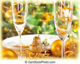 Romantic holiday dinner - Picture of romantic holiday dinner...