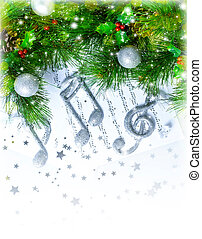 Christmas treble clef - Image of Christmas treble clef on...