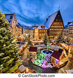 Christmas Market in Germany - Christmas Market on the...