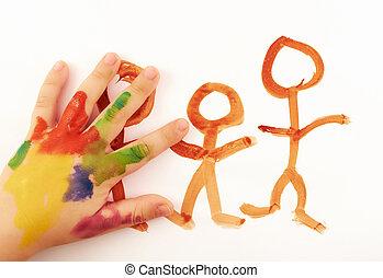 Child's, hand