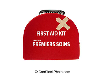 first aid box with a bandage