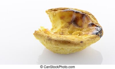 Pastel de nata - Close-up of a delicious pastel de nata,...