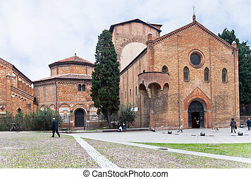 Seven Churches in Abbey Santo Stefano in Bologna, Italy