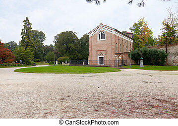 Scrovegni Chapel in Padua, Italy - view of parco dell Arena...
