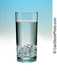 glass of water with ice - Image of glass of water with ice