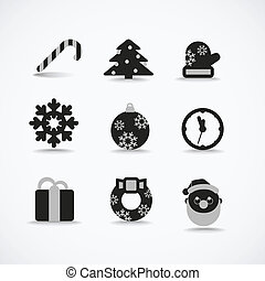 Christmas silhouettes vector collection
