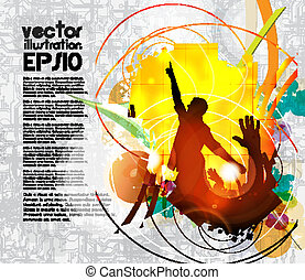 Music event background Vector eps10 illustration