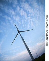 low angle view of a wind mill - Low angle view of a wind...