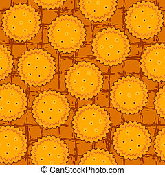 round cookie seamless background pattern