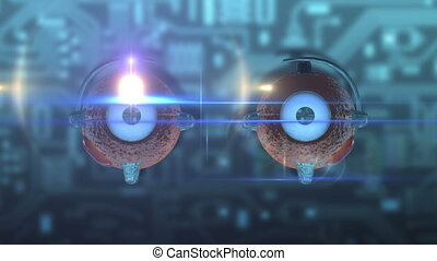 Eye - mechanically - light - Abstract animation about...