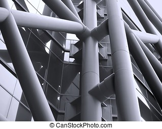 moderne,  détail,  architectural