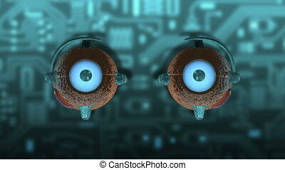 Eye - mechanically - Abstract animation about communication...
