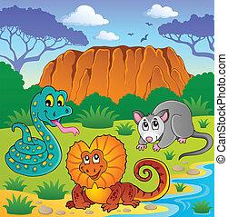 Australian animals theme 6 - vector illustration