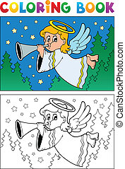 Coloring book angel theme image 4 - vector illustration.