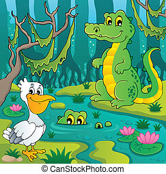 Swamp theme image 3 - vector illustration