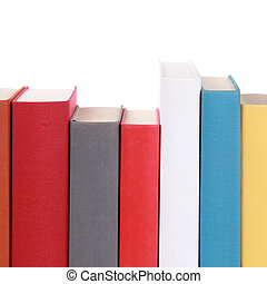 Colorful book spines with copyspace for your own text