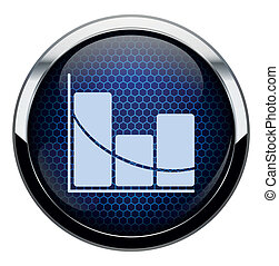 Blue honeycomb stat icon