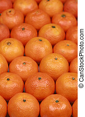 Tangerines forming a background