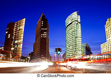 skyscrapers at potsdamer platz in berlin, germany