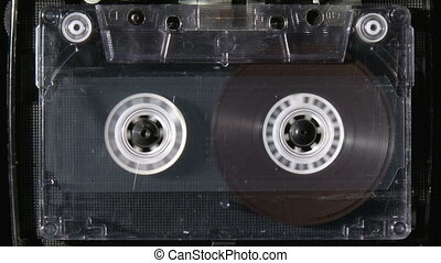 Audio cassette starts playing