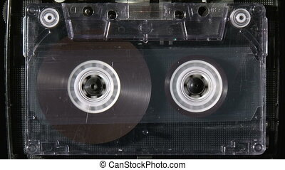 Audio cassette rewind or fastfoward until reaches the end