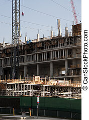 large construction site in detail