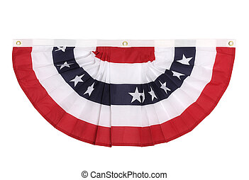 independence day - A US flag colored bunting decoration as...
