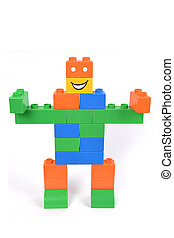 Robot - A children building blocks toy stacked as a robot