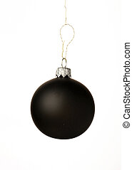 black christmas ball - A black christmas ball hanging from...