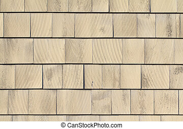 Painted cedar shingle siding - Several rows of painted cedar...