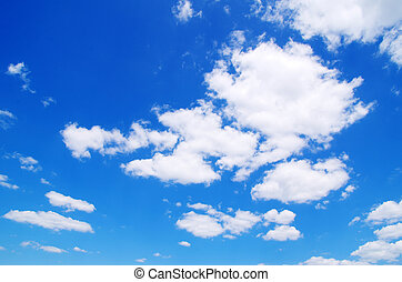 clouds - blue sky with white clouds