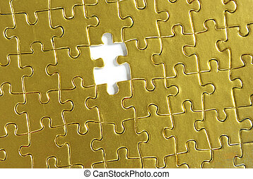 puzzle - gold puzzle for background