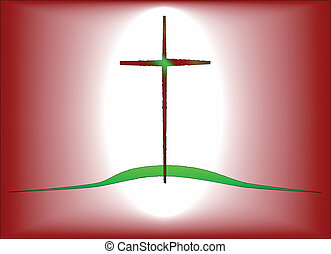 The Green Hill - The cross of Jesus on the green hill
