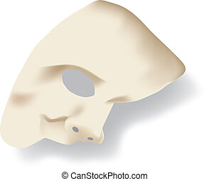 White phantom of the opera mask - White phantom of the opera...