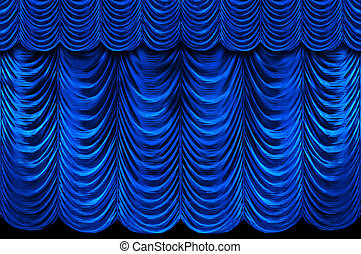 Blue Stage Curtains - Stage blue curtains
