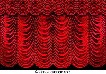 Red Stage Curtains - Stage red curtains