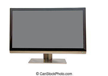 Wide screen monitor for computers, on white