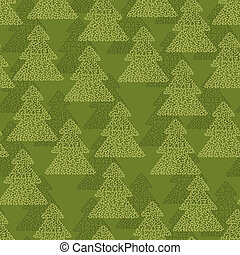 Christmas and Holidays seamless pattern with trees
