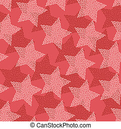 Christmas and Holidays seamless pattern with stars.